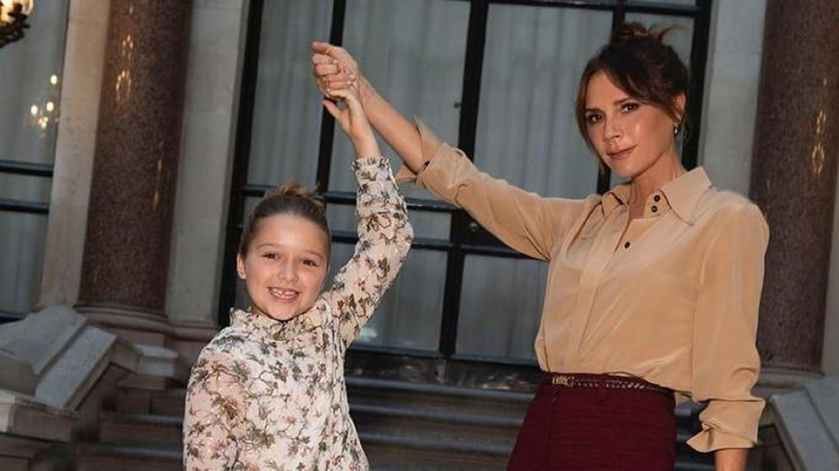 Harper Beckham Steals the Victoria Beckham Fashion Show