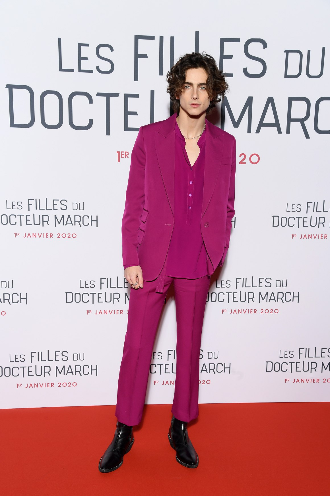 """Les Quatre Filles Du Docteur March Little Women"" Premiere At Cinema Gaumont Marignan In Paris"