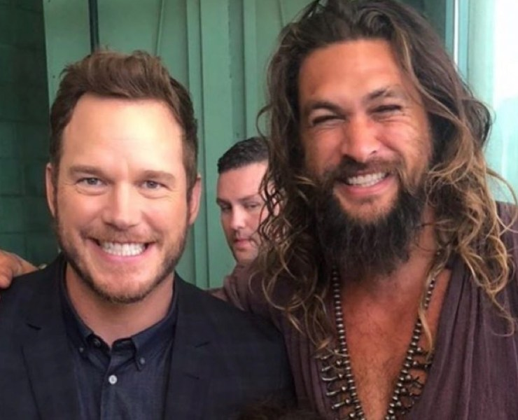 Chris Pratt and Jason Momoa