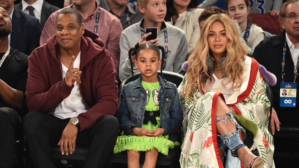Blue Ivy Carter Attends The 66th NBA All-Star Game
