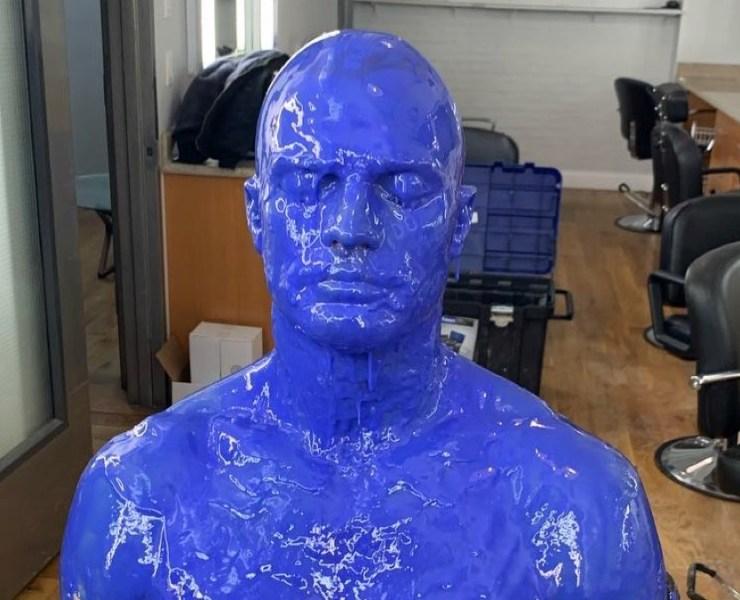 Jamie Dornan is blue