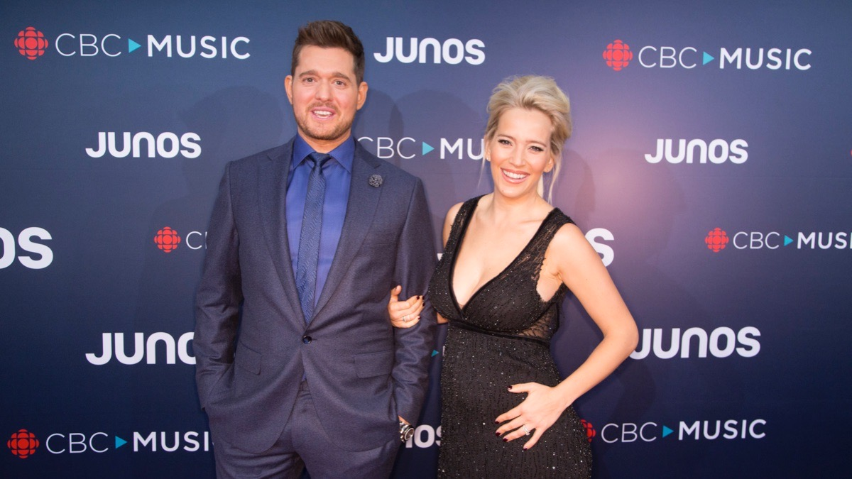 Michael Buble and Wife Luisana Lopalito
