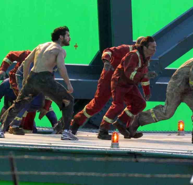 "Henry Cavill On Set Of ""Man Of Steel"" 2"