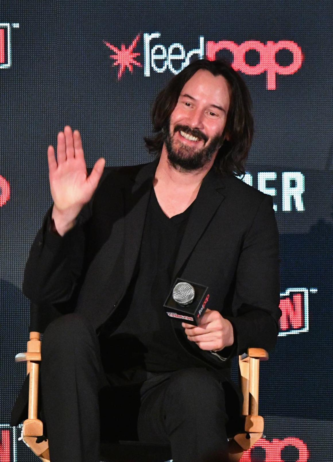Keanu Reeves at 2017 New York Comic Con - Day 1