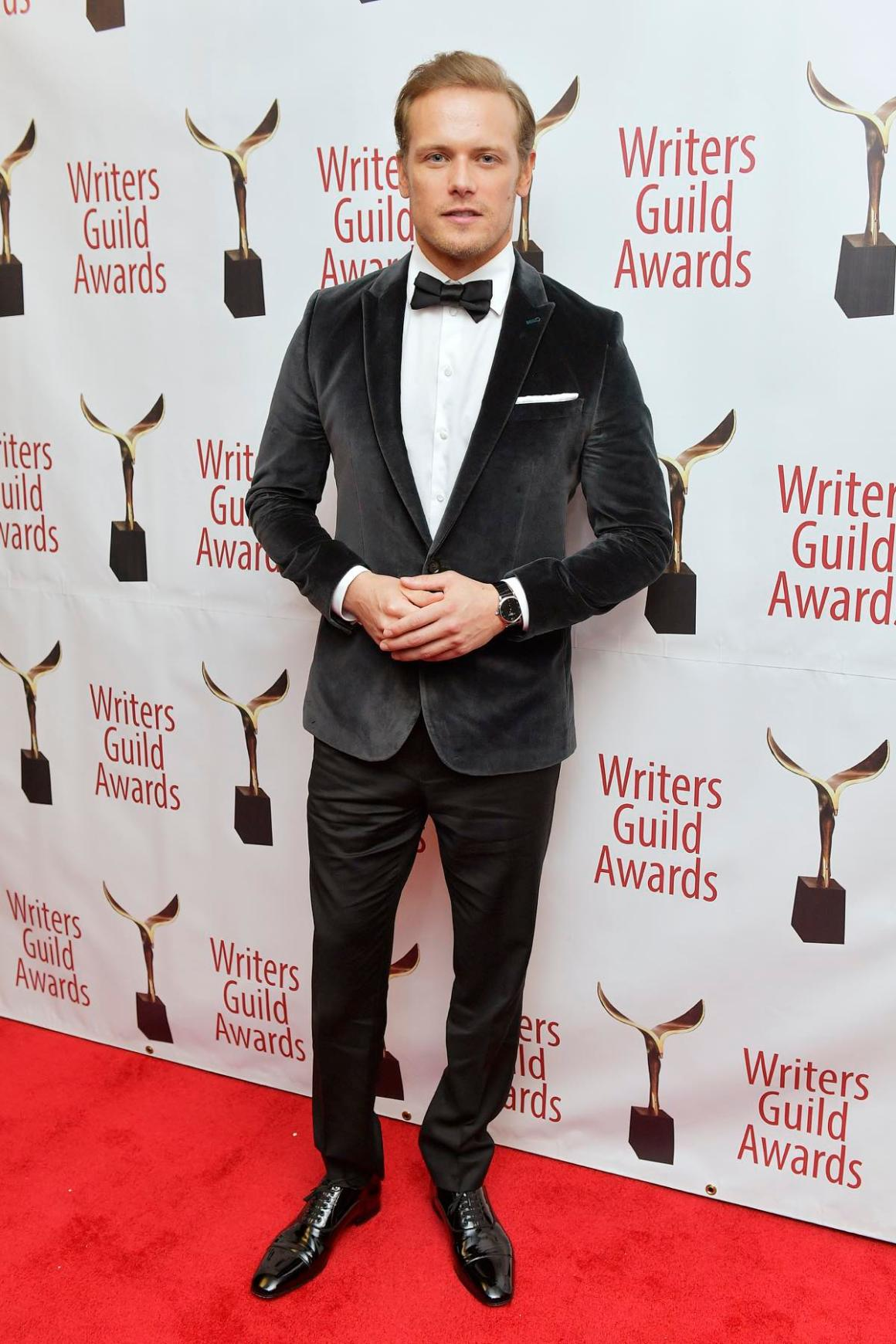 Sam Heughan attends the 72nd Writers Guild Awards - New York Ceremony - Inside