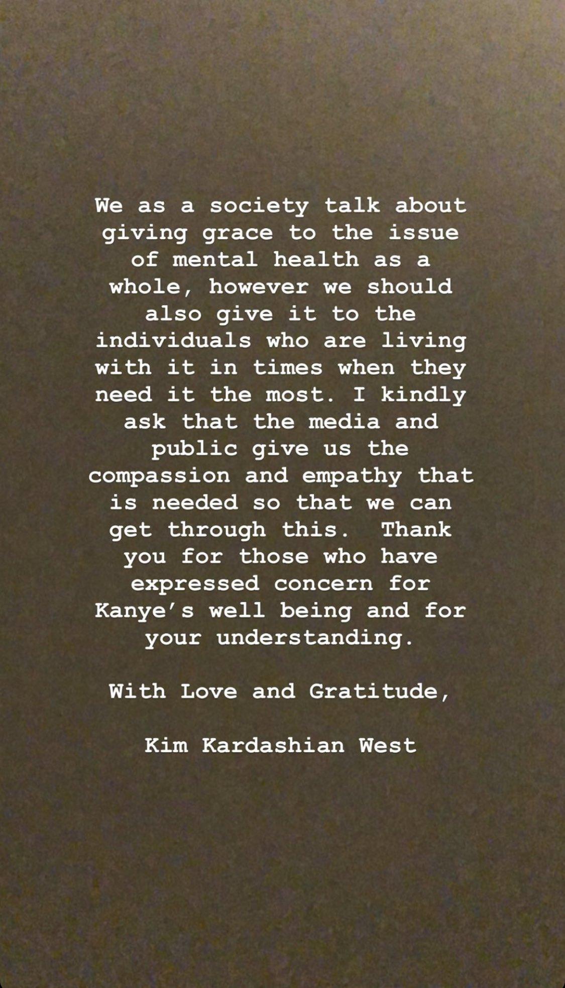 Kim Kardashian Instagram Story