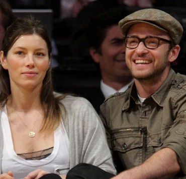 Justin Timberlake Jessica Biel Celebrities At The Lakers Game