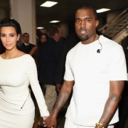 Kim Kardashian and Kanye West 2012 BET Awards - Roaming Inside And Backstage
