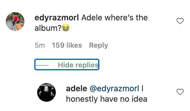 Adele new music response