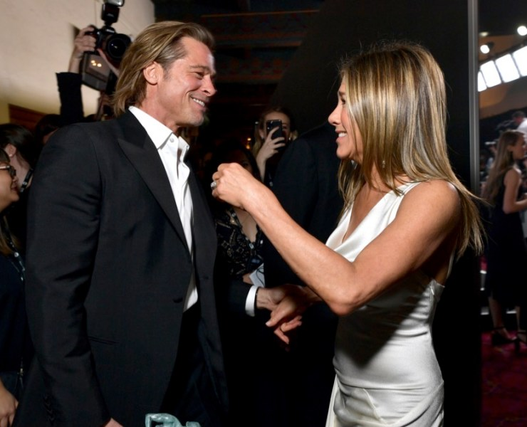 Brad Pitt and Jennifer Aniston 26th Annual Screen Actors Guild Awards - Media Center