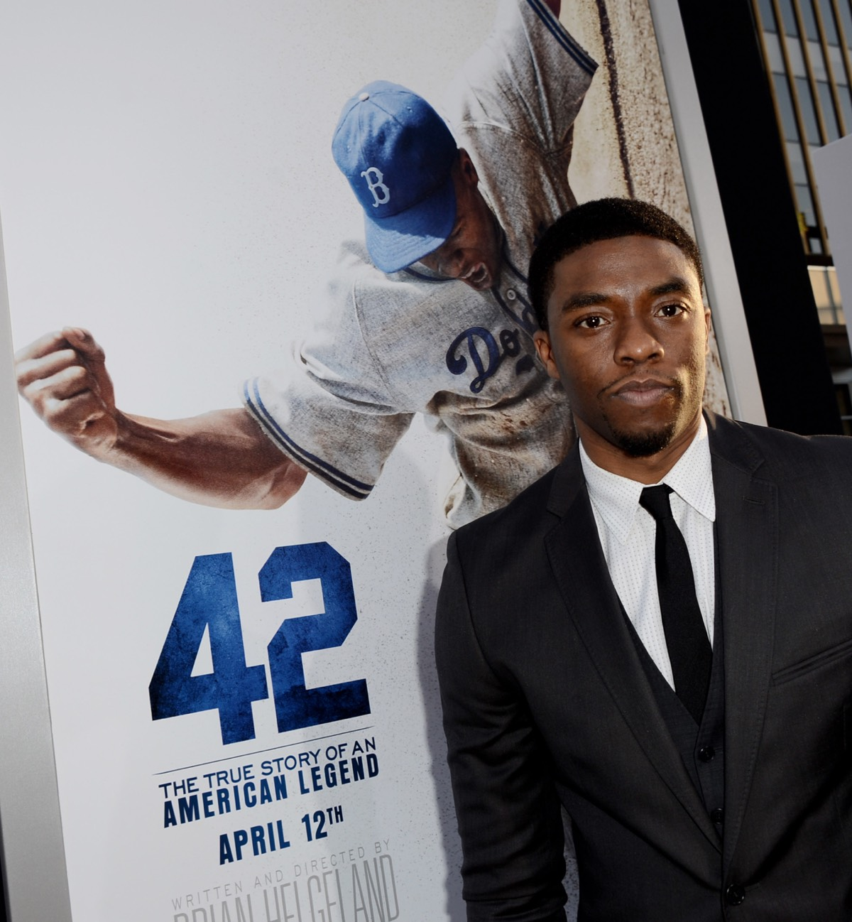 "Chadwick Boseman Premiere Of Warner Bros. Pictures' And Legendary Pictures' ""42"" - Red Carpet"