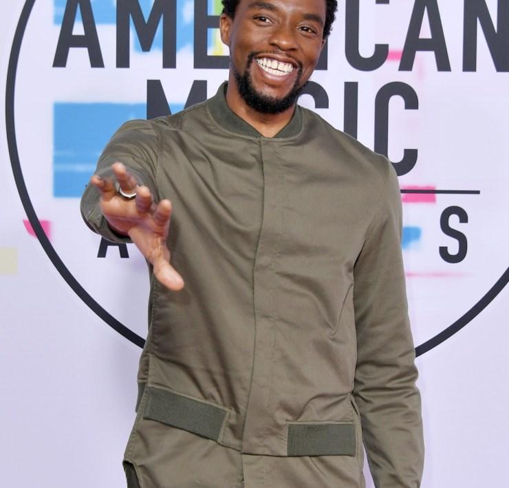 Chadwick Boseman 2017 American Music Awards - Arrivals