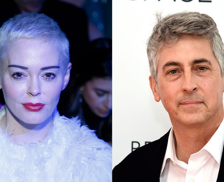 Rose McGowan and Alexander Payne