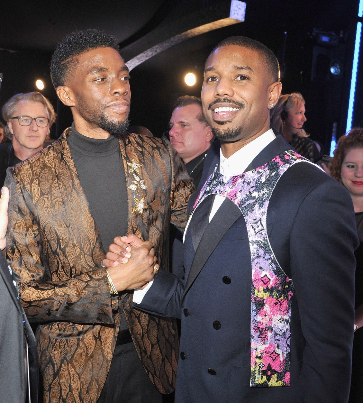 Chadwick Boseman and Michael B. Jordan 25th Annual Screen Actors Guild Awards - Cocktails