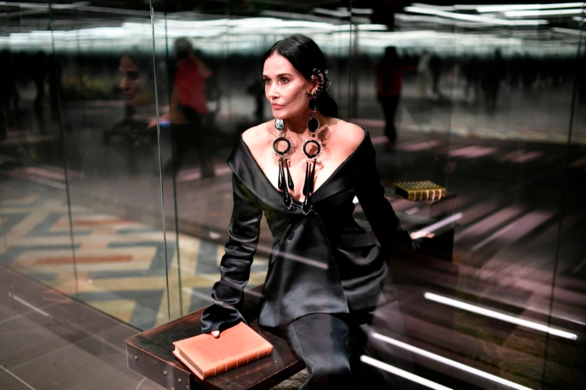 Demi Moore Fendi Fashion Show