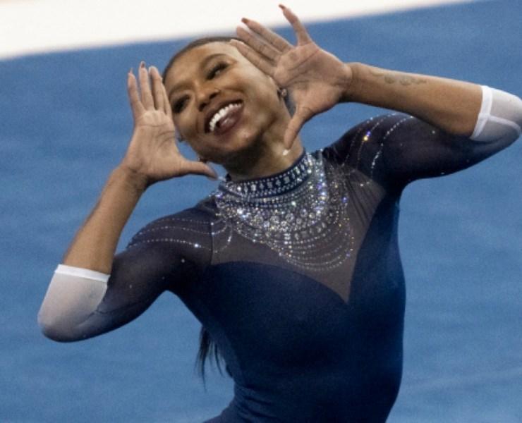 UCLA's star gymnast Nia Dennis