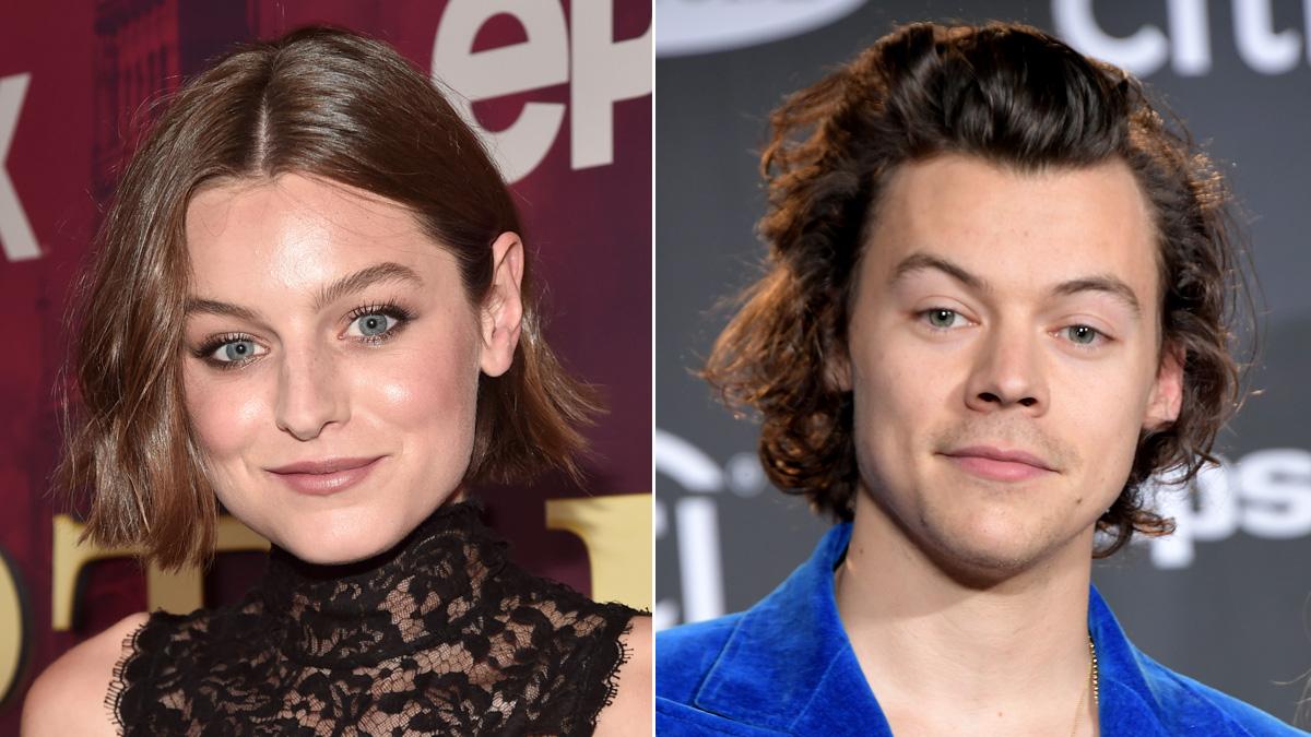 Emma Corrin and Harry Styles