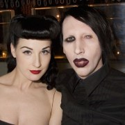Dita Von Teese and Marilyn Manson Opening Of MR CHOW Tribeca