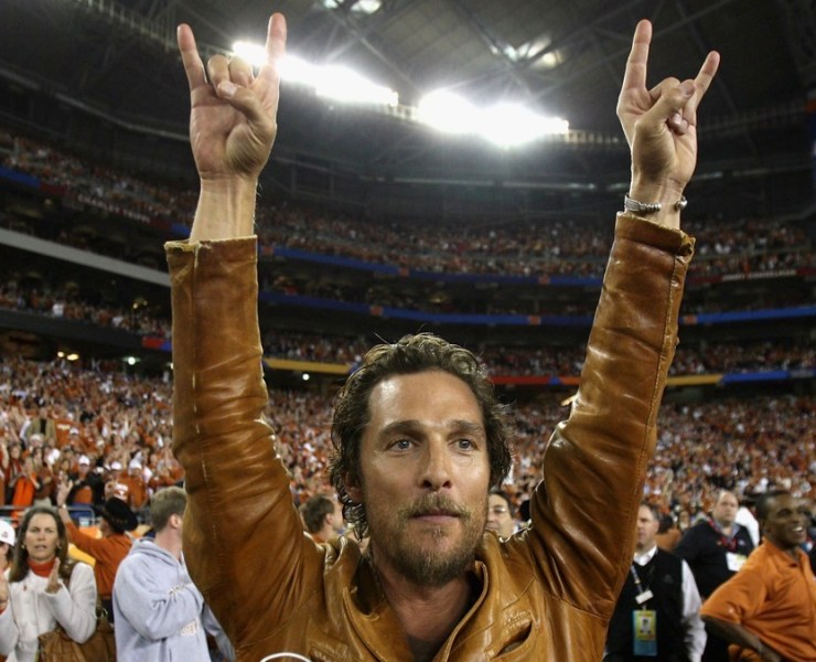 Matthew McConaughy Tostitos Fiesta Bowl - Texas v Ohio State
