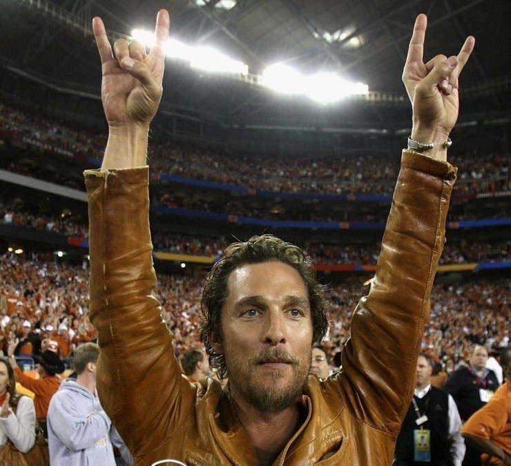 Matthew McConaughy Tostitos Fiesta Bowl - Texas v Ohio State