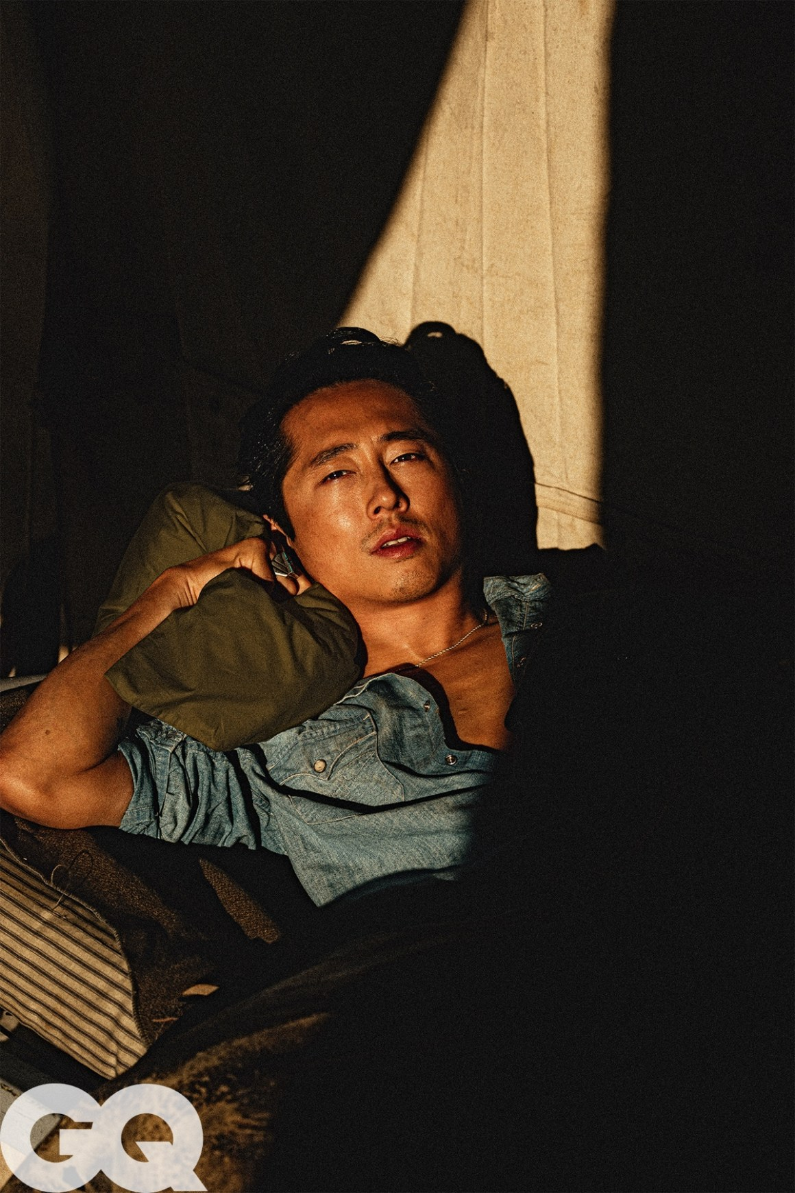 Steven Yeun covers GQ April 2021