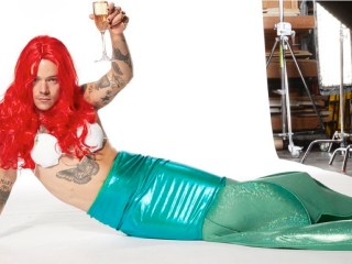 Harry Styles dressed up as Ariel from The Littler Mermaid