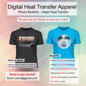 custom t shirt printing design heat transfer apparel