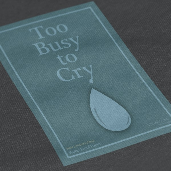 Social Living_Close-Up T Shirt Mockup_too busy to cry_small