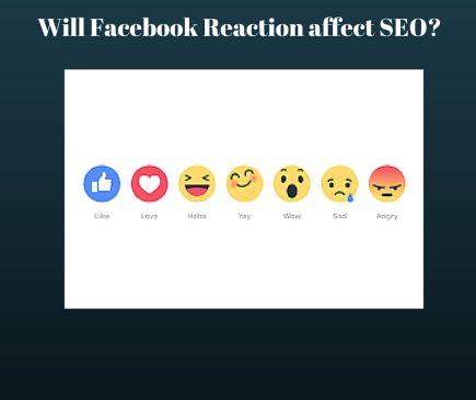 will facebook reaction affect seo?