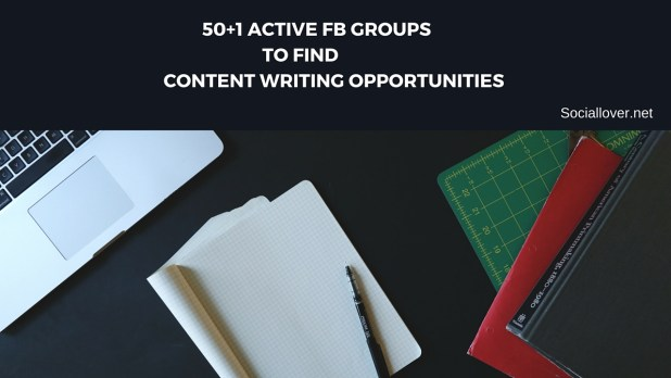 Active Facebook groups to find content writing jobs online