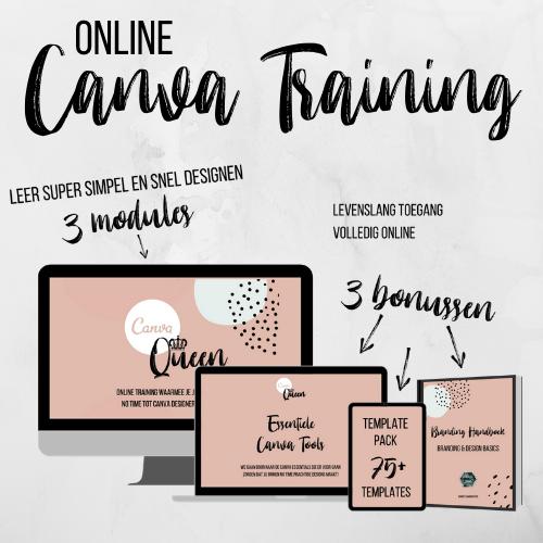 Online Canva Queen training Socially Sanne webshop
