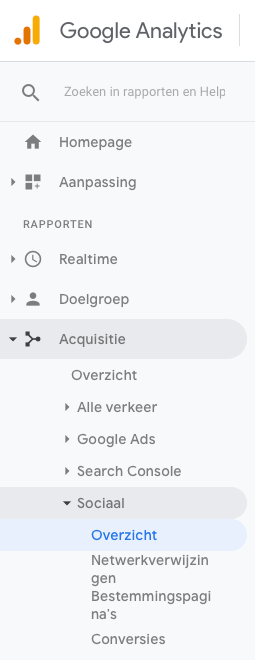 Pinterest Statistieken in Google Analytics