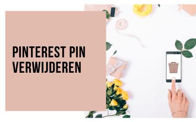 Pinterest pin verwijderen