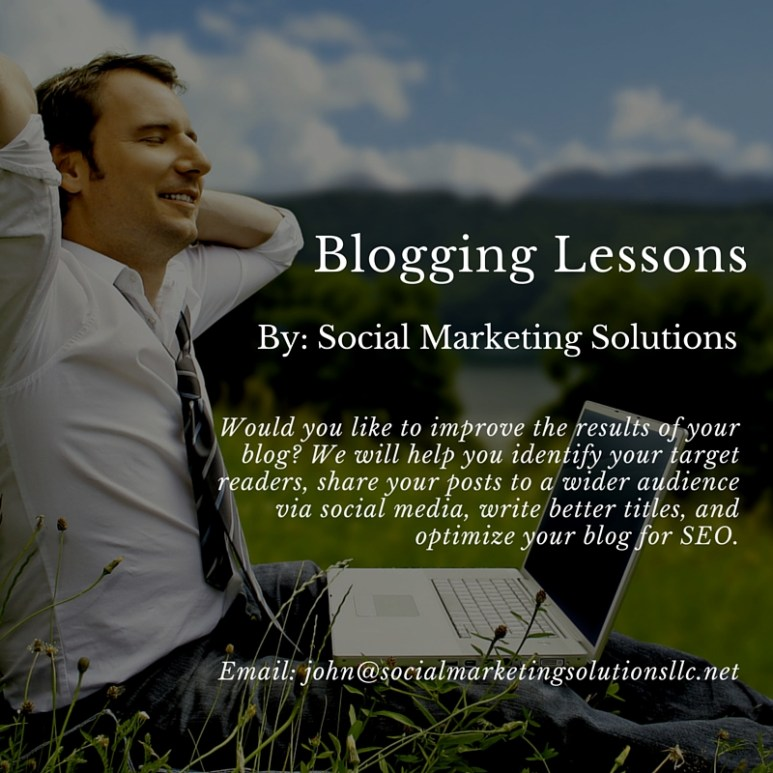 Blogging lessons
