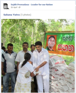 A post on Sajith Premadasa's Facebook page.