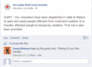 Redcross Facebook
