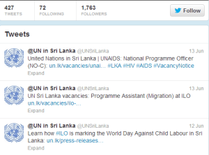 United Nations Sri Lanka Twitter