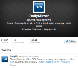 Daily Mirror Twitter
