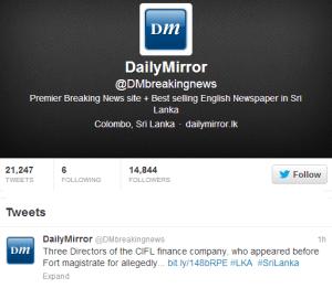 Daily Mirror Twitter