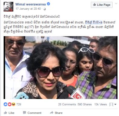 Artists visit Wimal Weerawansa