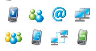 verschiedene Computer Icons - E-Mail, Messenger,..