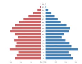 Demographischer Wandel - Bevölkerungspyramide