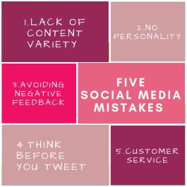 fivesocial media Mistakes