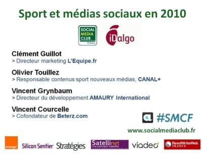 Sport et Médias Sociaux en 2010 - par le Social Media Club France et iDalgo