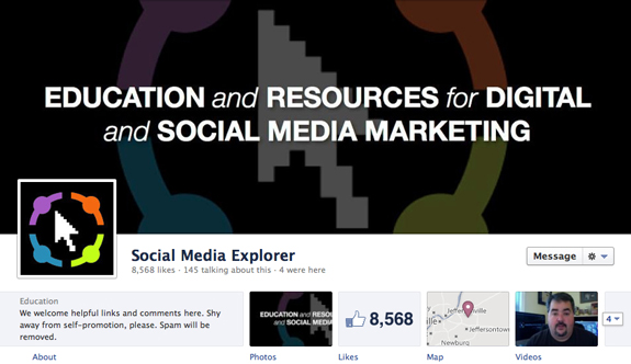Social Media Explorer's Facebook Cover Photo