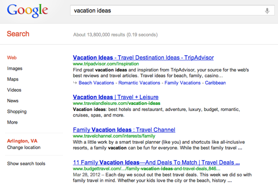 google-search-vacation-ideas