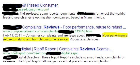 SEO comapny reviews SERP