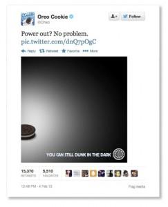 Oreo Superbowl Tweet