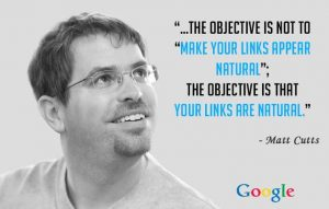 Google insists on naturally built links