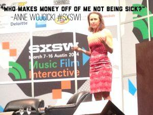 Anne Wojcicki at #SXSW 2014